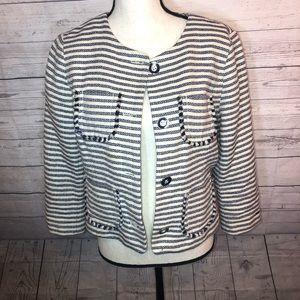 Tommy Hilfiger Women's 10 Striped Blazer